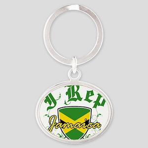 jamaica new Oval Keychain