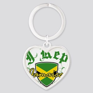 jamaica new Heart Keychain