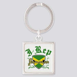 jamaica new Square Keychain
