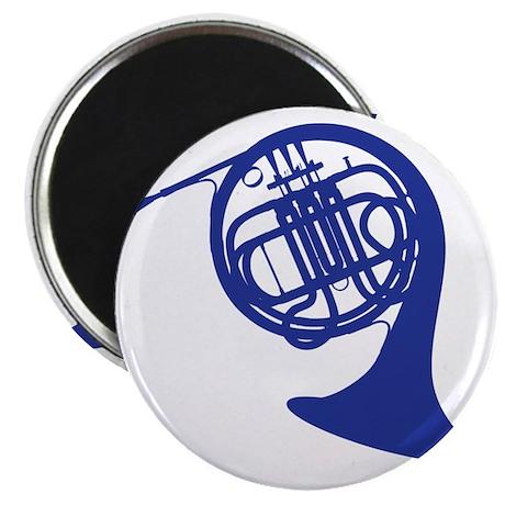 blue french horn Magnet