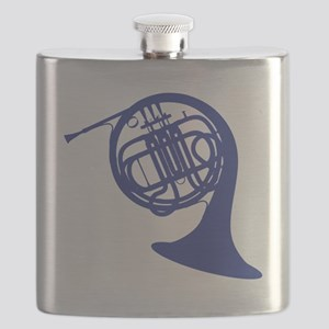 blue french horn Flask