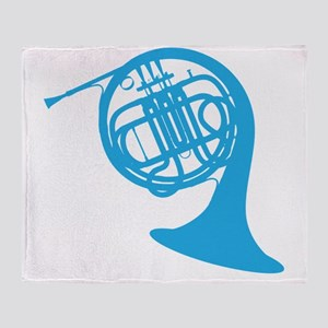 french horn Throw Blanket