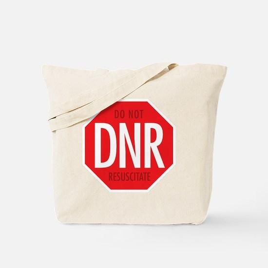 dnr-do-not-resusciatate-02a Tote Bag