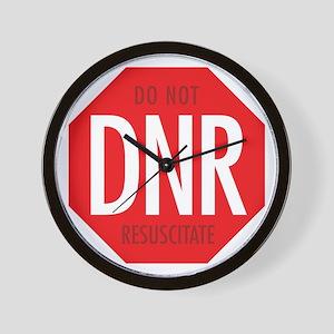 dnr-do-not-resusciatate-02a Wall Clock