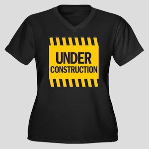 under constr Women's Plus Size Dark V-Neck T-Shirt