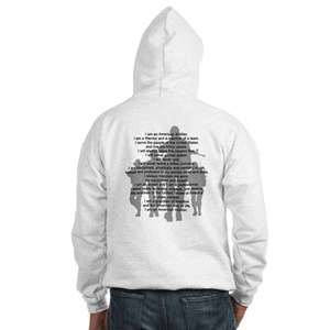 Soldier's Creed, National Gua Hooded Sweatshirt