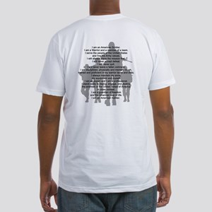 Soldier's Creed, National Gua Fitted T-Shirt