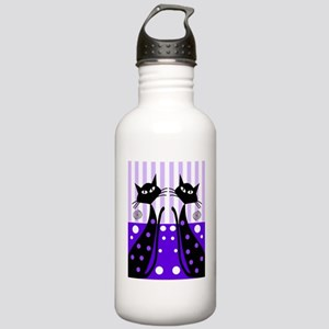 Eve black cat shoes pu Stainless Water Bottle 1.0L