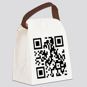 911 Christ QR Code - With Heart Canvas Lunch Bag