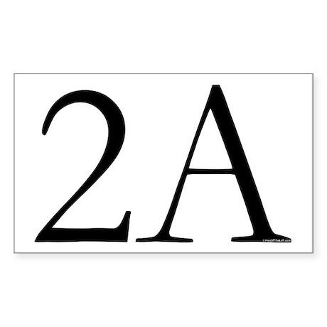 2A Rectangle Sticker