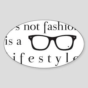 Geek lifestyle Sticker (Oval)