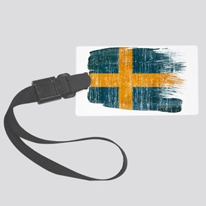 Swedentex3-paint style aged copy Large Luggage Tag