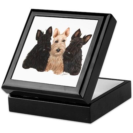 Scottish Terrier - 3 puppies Keepsake Box