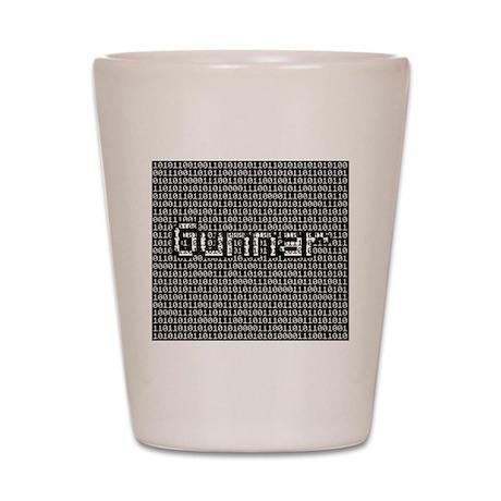 Gunnar, Binary Code Shot Glass