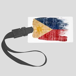 Philippinestex3-paint style aged Large Luggage Tag