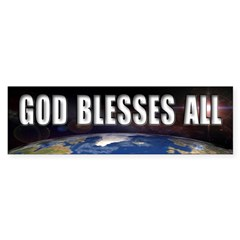 God Blesses All Bumper Bumper Sticker