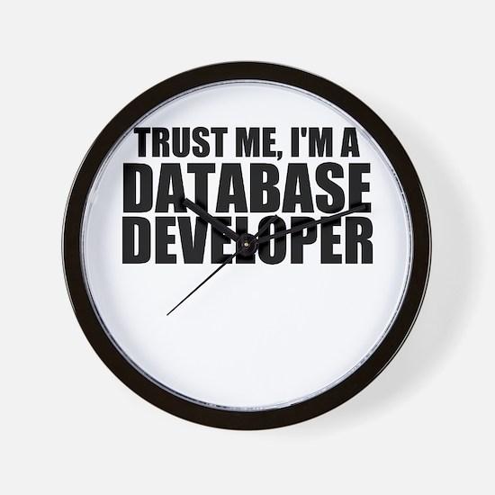 Trust Me, I'm A Database Developer Wall Clock
