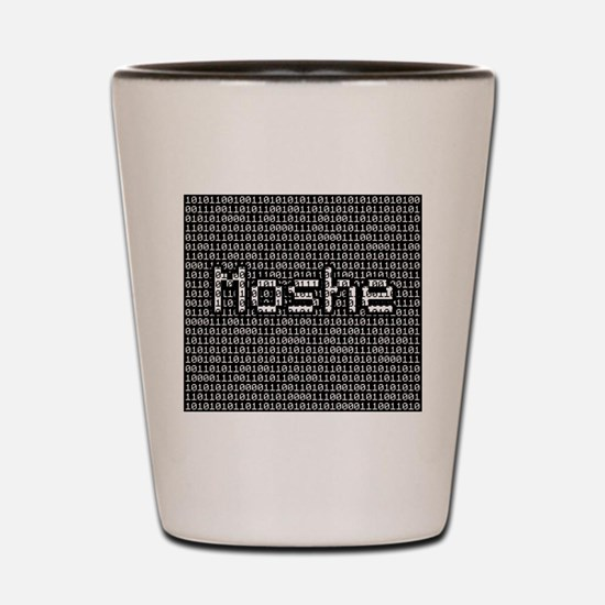 Moshe, Binary Code Shot Glass