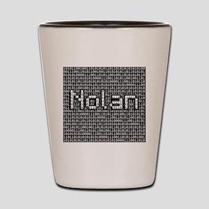 Nolan, Binary Code Shot Glass