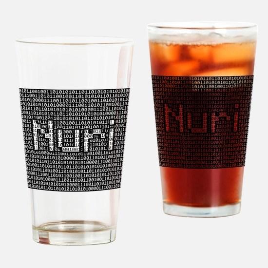 Nuri, Binary Code Drinking Glass