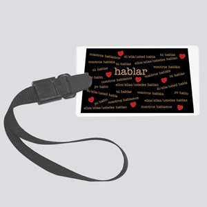 Conjugation-Spanish Large Luggage Tag