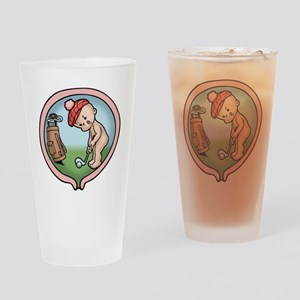 golf-womb-T Drinking Glass