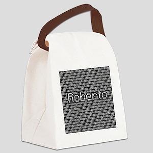 Roberto, Binary Code Canvas Lunch Bag