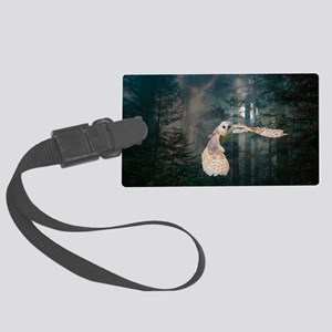 Owl at Midnight Large Luggage Tag