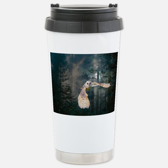 Owl at Midnight Stainless Steel Travel Mug
