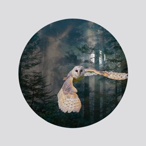 "Owl at Midnight 3.5"" Button"