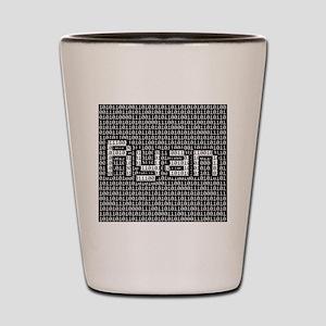 Ryan, Binary Code Shot Glass
