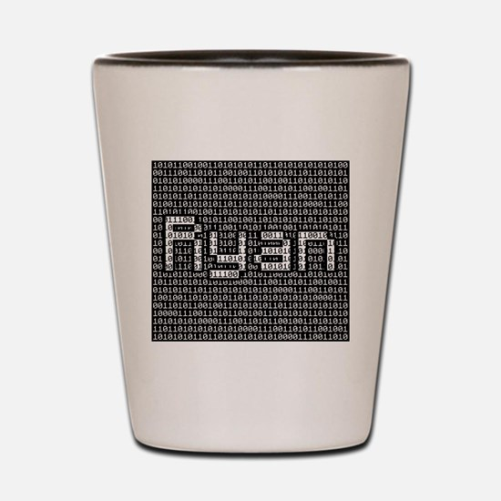 Ryan, Binary Code Shot Glass