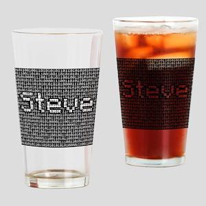 Steve, Binary Code Drinking Glass