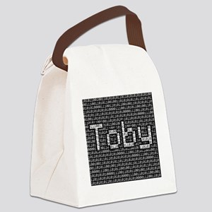 Toby, Binary Code Canvas Lunch Bag