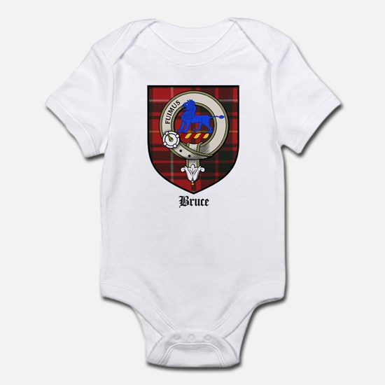 Bruce Clan Crest Tartan Infant Bodysuit