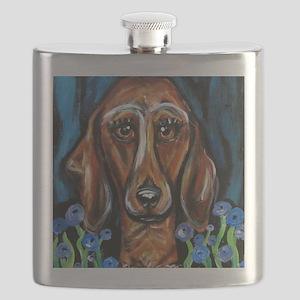 Portrait of a Dachshund Flask