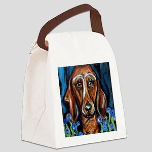Portrait of a Dachshund Canvas Lunch Bag