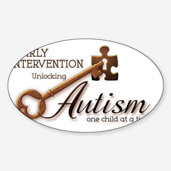 unlockingautism-EarlyIntervention Sticker (Oval)