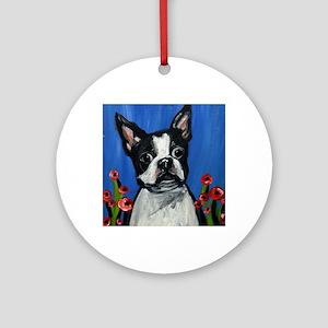 Portrait of a Boston Round Ornament