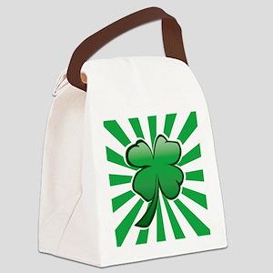Four Leaf Clover Canvas Lunch Bag