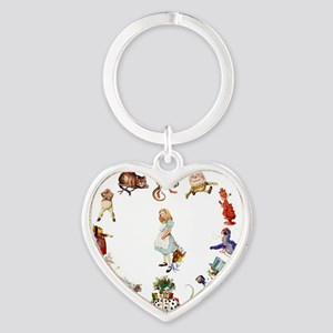 Through The Looking Glass Heart Keychain