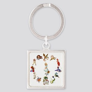 Through The Looking Glass Square Keychain