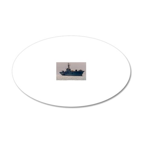 norleans rectangle magnet 20x12 Oval Wall Decal