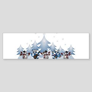 Funny Snow Dance Bumper Sticker