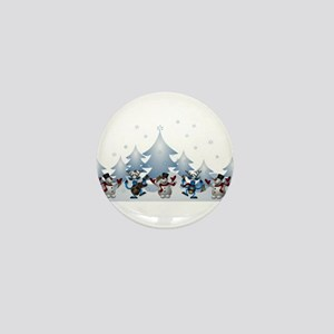 Funny Snow Dance Mini Button