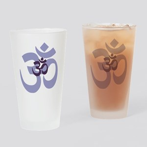 om aum chant symbol Drinking Glass