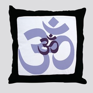 om aum chant symbol Throw Pillow