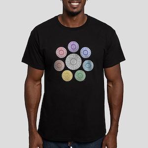seven chakra circle Men's Fitted T-Shirt (dark)