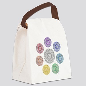 seven chakra circle Canvas Lunch Bag