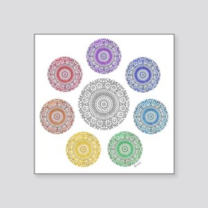 "seven chakra circle Square Sticker 3"" x 3"""